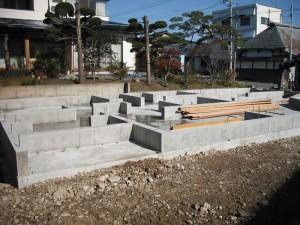 コンクリート工事完了